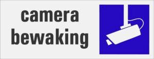 Camera bewaking bordje