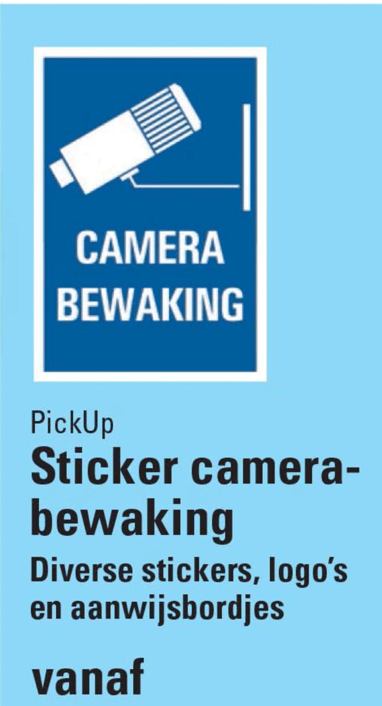 Sticker camerabewaking action