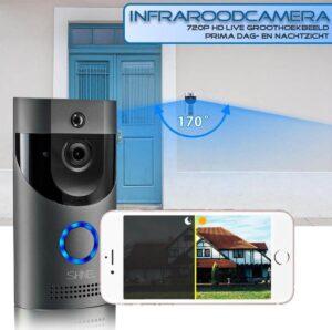 Video deurbel met Camera infrarood