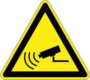 Waarschuwingssticker camerabewaking